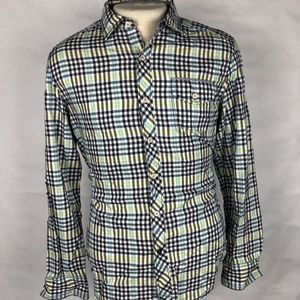 Tommy Bahama Blue & Yellow Mens Plaid Long Sleeve